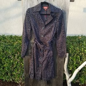 Kirna Zabete for Target Long Trench Coat Animal
